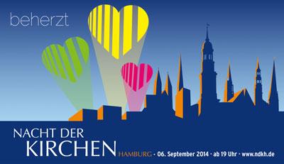 Motto Nacht der Kirchen 2014 in Hamburg