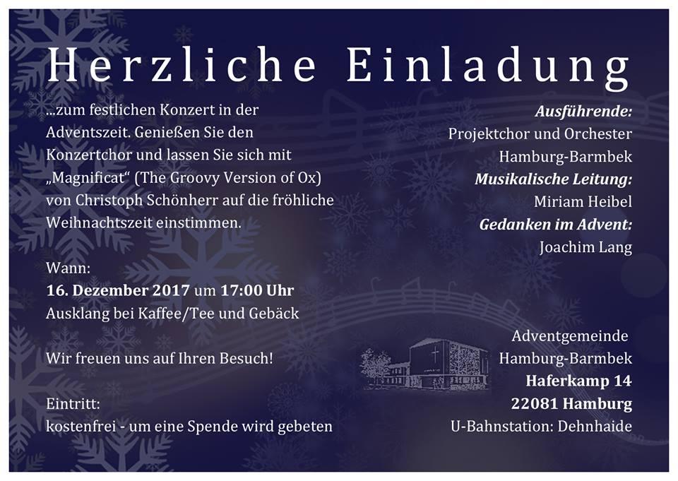 Herzliche Einladung zum Konzert