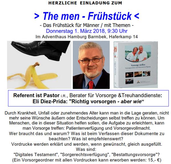 Eli Diez-Prieda beim The men - Frühstück
