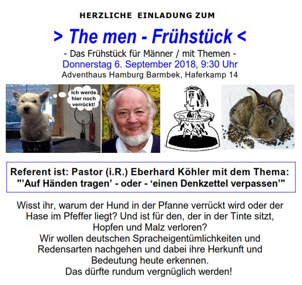 The Men Frühstück am 06.09.2018